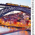 Tram on, tram bridge. Porto, Portugal 41436041
