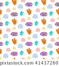 Coral reef seamless pattern 41437260