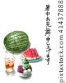 여름 안부 편지, 여름 문안인사, 복중 문안 41437888