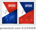 Russia flag colors leaflet,cover book background.  41439468