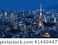 Night view scenery in Tokyo 41440447