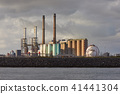 Industrial buildings on the shore 41441304