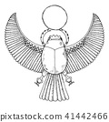 Sketch of the Egyptian scarab. Vector illustration 41442466
