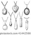 drawn, jewel, jewelry 41442566
