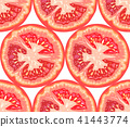 Vector seamless pattern of tomato slice 41443774