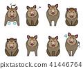 벡터, 동물, 멧돼지 41446764