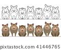 벡터, 멧돼지, 늘어서다 41446765
