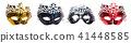 Set of mask on white background. 41448585