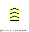 chevron icon in trendy flat style 41448607