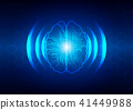 abstract brain and circuit with hex background 41449988
