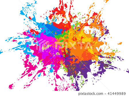 Abstract Vector Splatter Colorful Background Stock