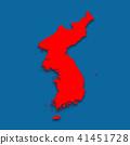 3D,지도,한국,북한 41451728