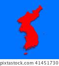 3D,지도,한국,북한 41451730