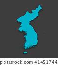 3D,지도,한국,북한 41451744