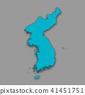 3D,지도,한국,북한 41451751