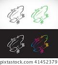 Vector of frogs design. Animal. logo. 41452379