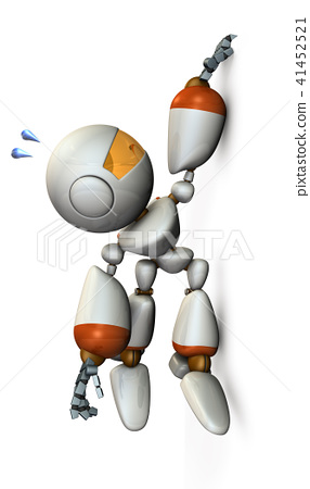 벽에 손가락을 걸고 기어 오르는 로봇 41452521