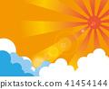 한여름의 태양과 뭉게 구름 41454144