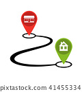 Design path from shop to home. Vector icon. 41455334