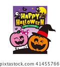 halloween pumpkin ghost 41455766