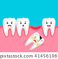 Cute cartoon missing tooth. 41456106