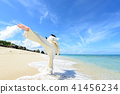 A man trained in a beautiful beach in Tropical country 41456234
