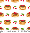 pattern with pancakes 41457969