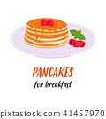 pancakes delicious breakfast 41457970