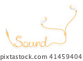 vector sound earbud 41459404