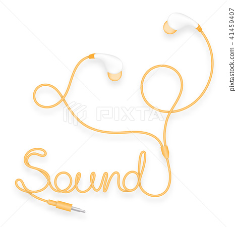 Earphones, In Ear type yellow orange color 41459407