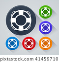 life buoy circle icons with shadow 41459710