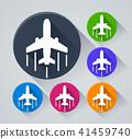 icon, airplane, plane 41459740