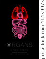 Female Organs X-ray set, Lung infection concept 41459975