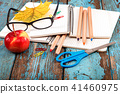 School, office supplies on a wooden background 41460975