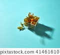 Physalis in a basket isolated on a blue background 41461610