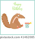 cute, birthday, card 41462085