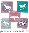 Set of cards with star constellations 41462165