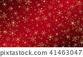 Christmas background dressed by gold snowflakes 41463047