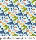 Sea animals vector creatures characters cartoon ocean wildlife marine underwater aquarium life water 41463672