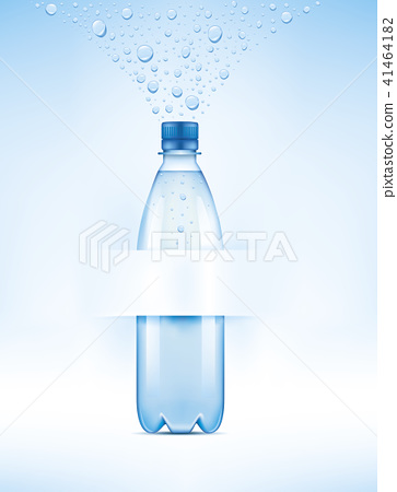Water bottle with water drops 41464182