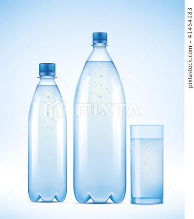 Water bottle with water drops  41464183