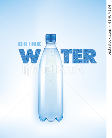 Water bottle with water drops  41464184