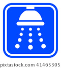 shower blue and white icon 41465305