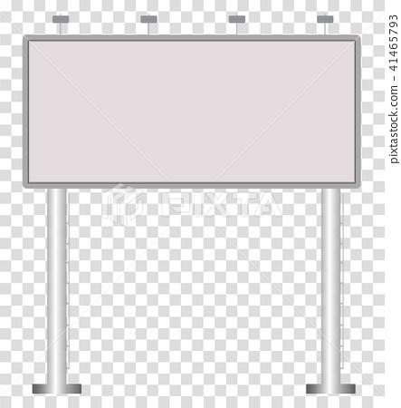 Blank Big Billboard On Transparent Background Stock