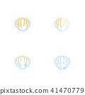 Shellfish icon outline stroke set dash line design 41470779