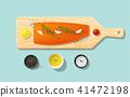 ปลาแซลมอน,แซลมอน,สด 41472198
