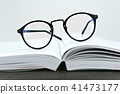 Close up of hipster glasses for reading 41473177