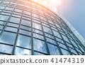 Blue glass wall of skycrapper 41474319