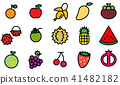 icon fruit vector 41482182