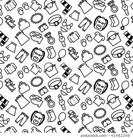 pattern background outline of variety clothes 41482209